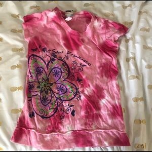 Other - Pink shirt with flower